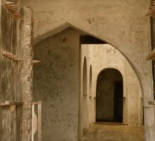 Old Lamu Town - carved old door and doorways Sticker