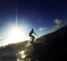 Beautiful Surfing Silhouette Surfer by Mark Hobbs