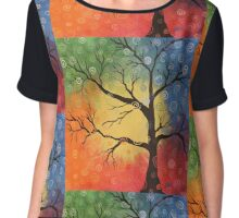 Whimsical tree of color Chiffon Top