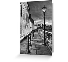 Along The Walls Greeting Card