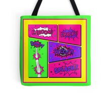 Bright and Colorful Comic Book Art Tote Bag