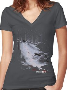 The Last of Us - Winter Women's Fitted V-Neck T-Shirt