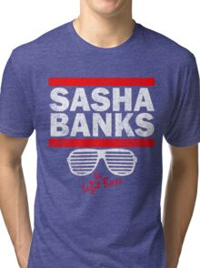 Sasha Banks Run DMC Mashup Vintage Tri-blend T-Shirt