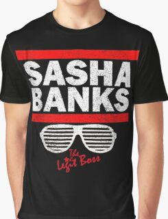 Sasha Banks Run DMC Mashup Vintage Graphic T-Shirt