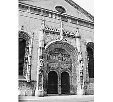Portal da Igreja de Nossa Senhora da Conceição. Lisboa Photographic Print
