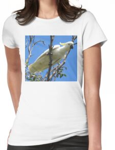 White Cockatoo Womens Fitted T-Shirt