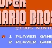 Super Mario Title Screen Sticker