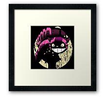 Tonari no Cheshire - Black Framed Print