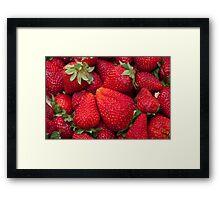 Color red strawberries Framed Print