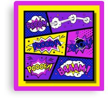 Girly Comic Book Panels Canvas Print