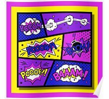 Girly Comic Book Panels Poster