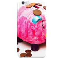 piggy bank with money iPhone Case/Skin