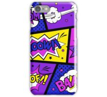 Girly Comic Book Panels iPhone Case/Skin