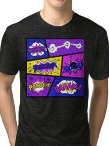 Girly Comic Book Panels Tri-blend T-Shirt