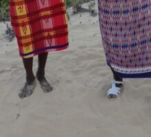 Samburu tribesmen feet 1 Sticker