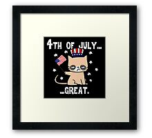 Grumpy Patriot Framed Print