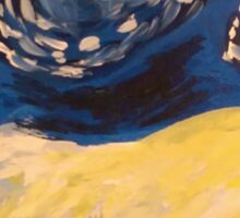 Starry Night Hand Painted Sticker
