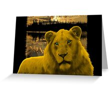 Yellow lion Justin Beck Picture 2015090 Greeting Card