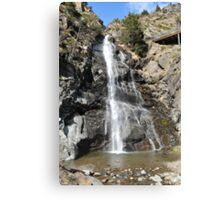 waterfall of Andorra La Vella Canvas Print