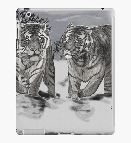 Snow Tigers Grey Justin Beck Picture 2015087 iPad Case/Skin
