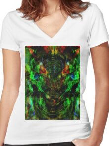 electric forces Women's Fitted V-Neck T-Shirt