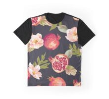 Floral Pomegranate Pattern Graphic T-Shirt