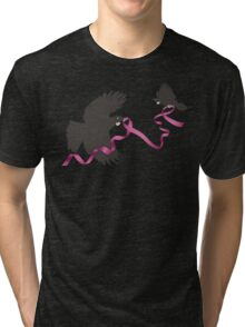 Flying Tui with Pink Ribbon Tri-blend T-Shirt