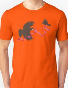 Flying Tui with Pink Ribbon Unisex T-Shirt
