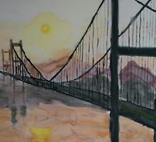 San Francisco Golden Gate Bridge Painting by Razmataz