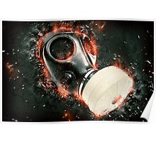 Digitally enhanced Gas Mask elevated side view  Poster
