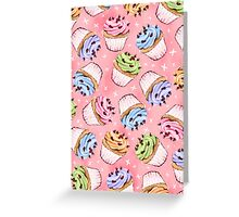 Colourful frosted cupcakes Greeting Card