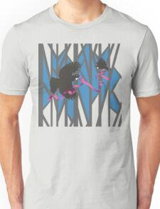 Flying Tui in Forest with Pink Ribbon Unisex T-Shirt