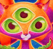 Precious Three-eyed Tentacle Cat Baby Sticker