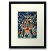 Woman in Angst Framed Print