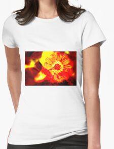 Fire Flower Womens Fitted T-Shirt