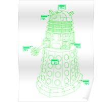Exterminate the Robot - Light Poster