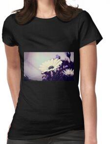 Calm Flower Womens Fitted T-Shirt