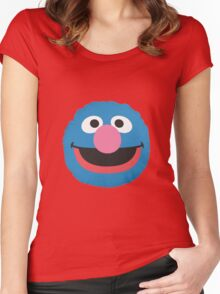 grover face Women's Fitted Scoop T-Shirt
