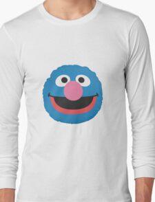 grover face Long Sleeve T-Shirt