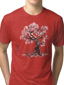 Forest Spirit Sumi-e Tri-blend T-Shirt