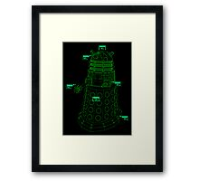 Exterminate the Robot - Dark Framed Print