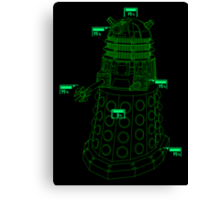 Exterminate the Robot - Dark Canvas Print