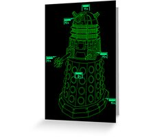 Exterminate the Robot - Dark Greeting Card