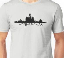 Atlantis Skyline with Gate Symbols Unisex T-Shirt