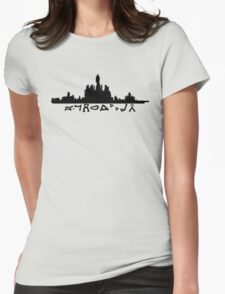 Atlantis Skyline with Gate Symbols Womens Fitted T-Shirt