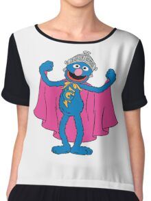 Super Grover Chiffon Top