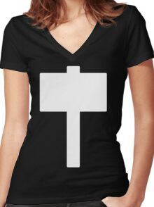 Monochromatic Heroes #5 Women's Fitted V-Neck T-Shirt