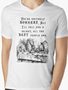 You're entirely bonkers Mens V-Neck T-Shirt