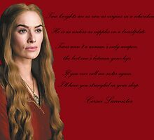 Game of Thrones/A song of Ice and Fire Shit Cersei says by pepijnvink
