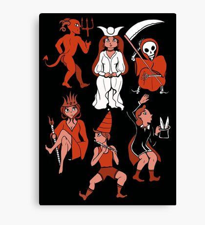 Tarot Party Canvas Print